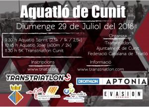 Cartel Acuatlón de Cunit 2018 final